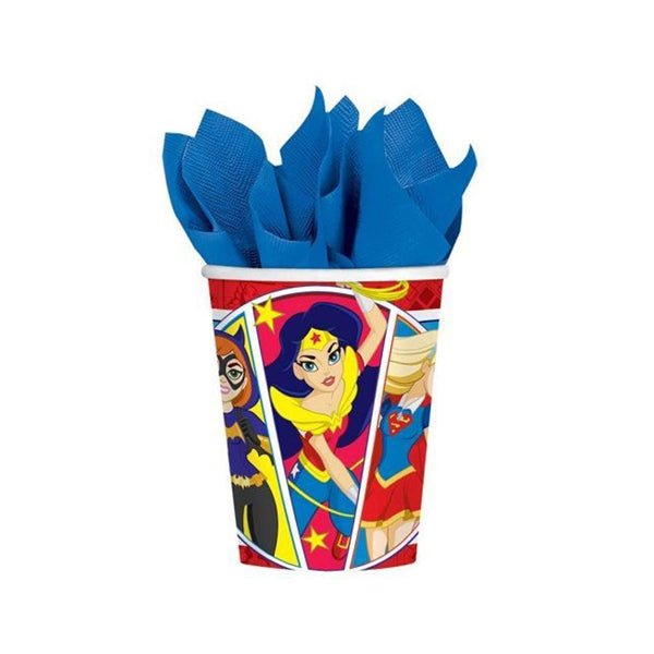 DC Super Hero Girls  Cup 226ml 8pk - Party Savers