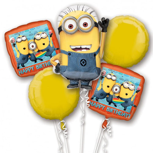 Despicable Me Balloon Bouquet 5pk