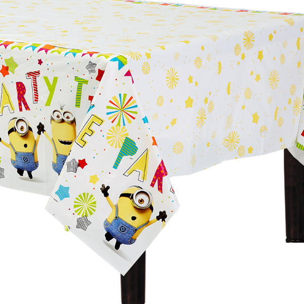 Despicable Me Plastic Tablecover 137cm x 244cm - Party Savers