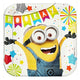 Despicable Me Square Plates 23cm 8pk