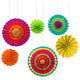 Fiesta Paper Fan Decorations 6pk
