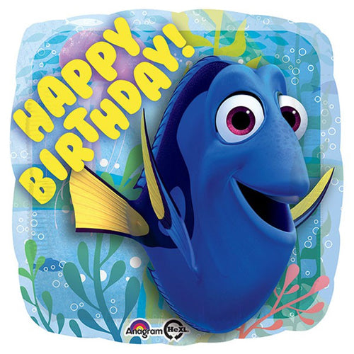 Finding Dory Happy Birthday Foil Balloon 45cm