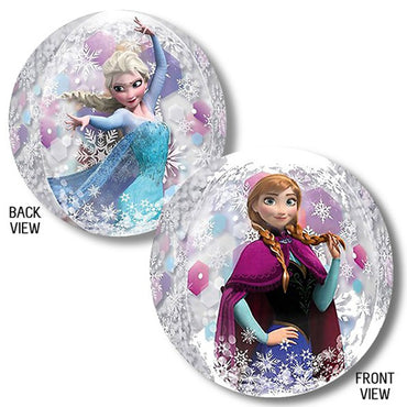 Frozen Orbz Clear Balloon 38cm x 40cm