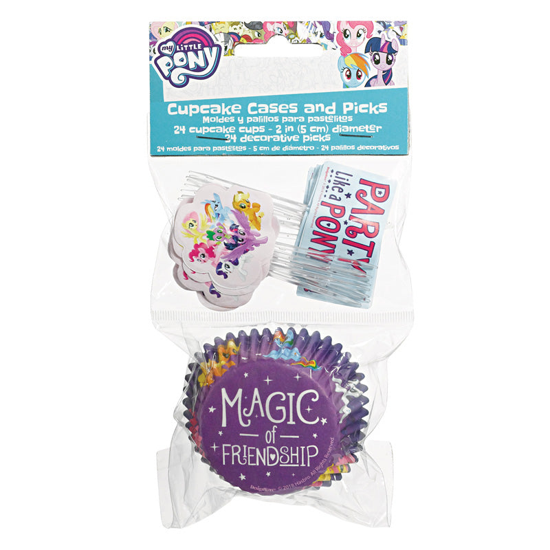 My Little Pony Friendship Adventures Cupcake Cases and Picks 48pk