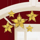 Glitz & Glam Metallic Star Decoration 20cm 5pk