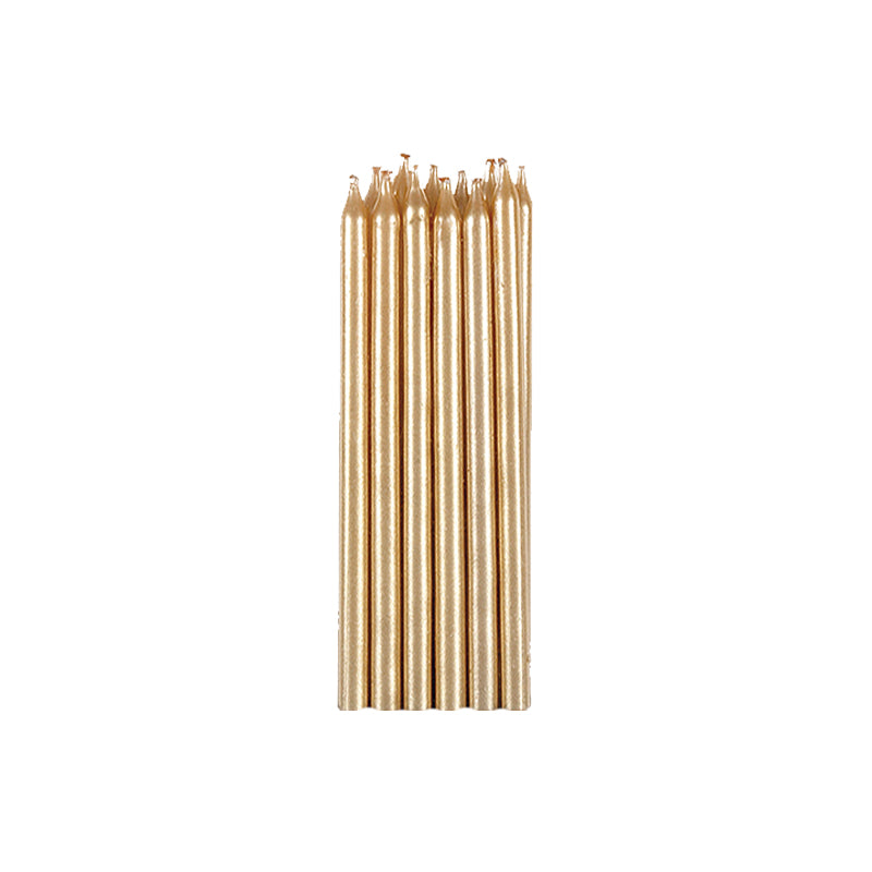 Gold Candles 12.5cm 12pk