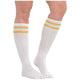 Gold Striped Knee Socks - Party Savers