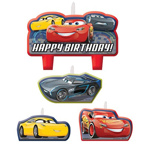 Happy Birthday Cars 3 Candle Set