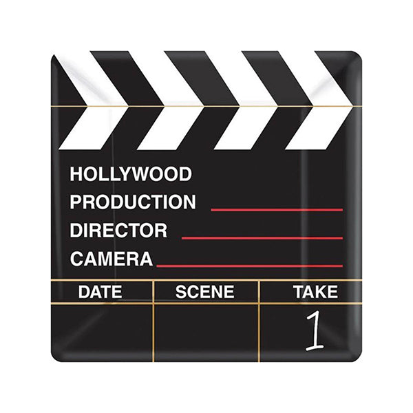 Hollywood Directors Cut MID Count Square Plates 17cm 18pk - Party Savers