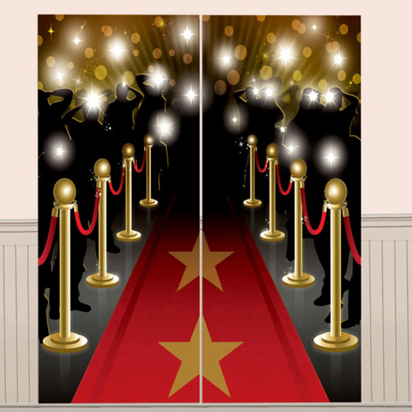 Hollywood Plastic Scene Setter Wall Decorating Kit 2pk - Party Savers