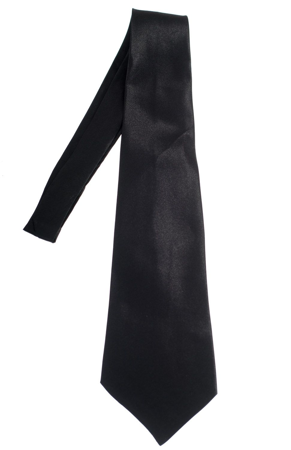 Black Satin Gangster Tie