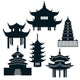 Pagoda Silhouettes 11in - 14in 6pk - Party Savers