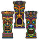 Assorted Tiki Cutouts 22in