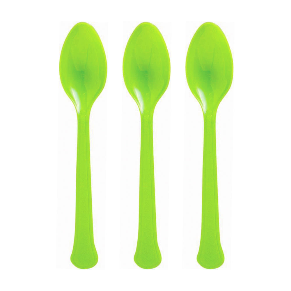Yellow Plastic Spoon 20pk - Party Savers