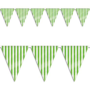 Lime Green Stripes Flag Banner 3.6m
