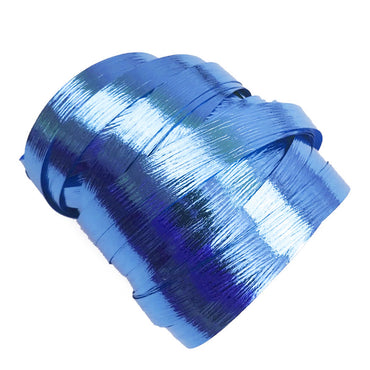 Metallic Royal Blue Precut Ribbon With Clips 1.75m 25pk - Party Savers
