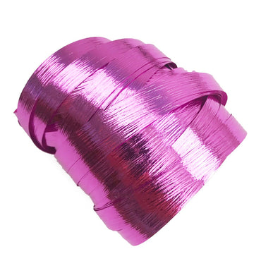 Metallic Bright Pink Precut Ribbon With Clips 1.75m 25pk