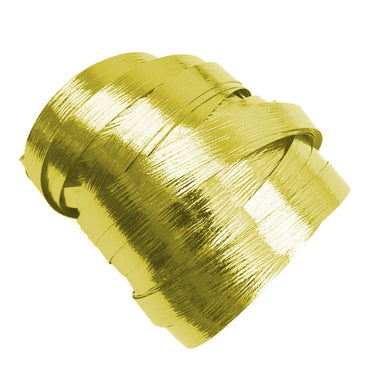 Metallic Gold Precut Ribbon With Clips 1.75m 25pk - Party Savers