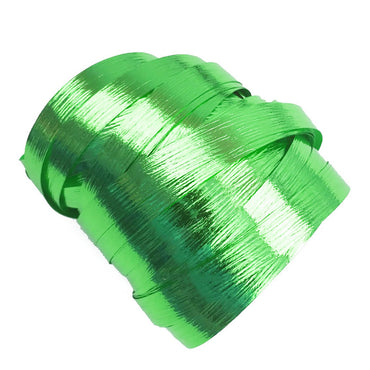 Metallic Green Precut Ribbon With Clips 1.75m 25pk - Party Savers