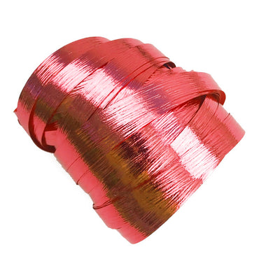 Metallic Red Precut Ribbon With Clips 1.75m 25pk - Party Savers