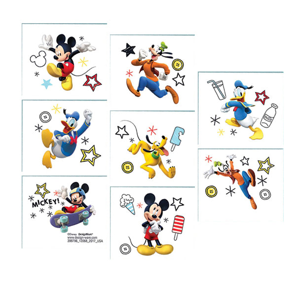 Mickey on the Go Tattoos 1 sheet