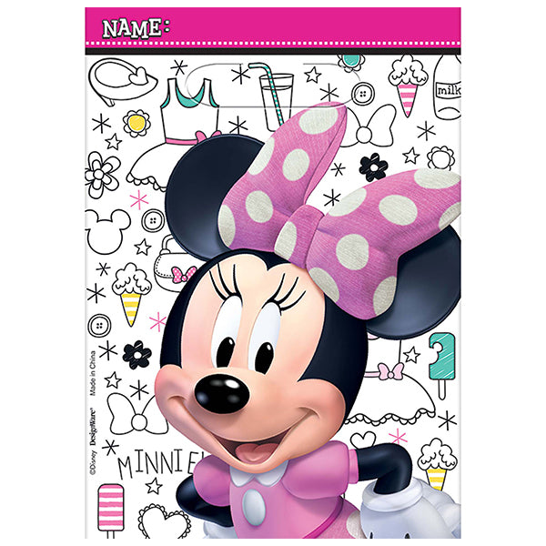 Minnie Mouse Happy Helpers Plastic Loot Bag 8pk