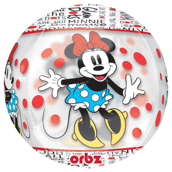 Minnie Mouse Orbz Clear Balloon - Party Savers