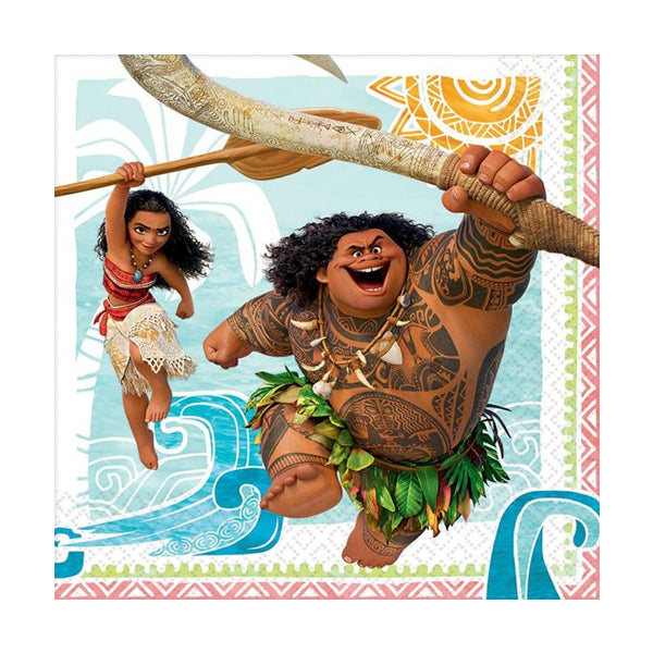 Moana Lunch Napkins 33cm 16pk
