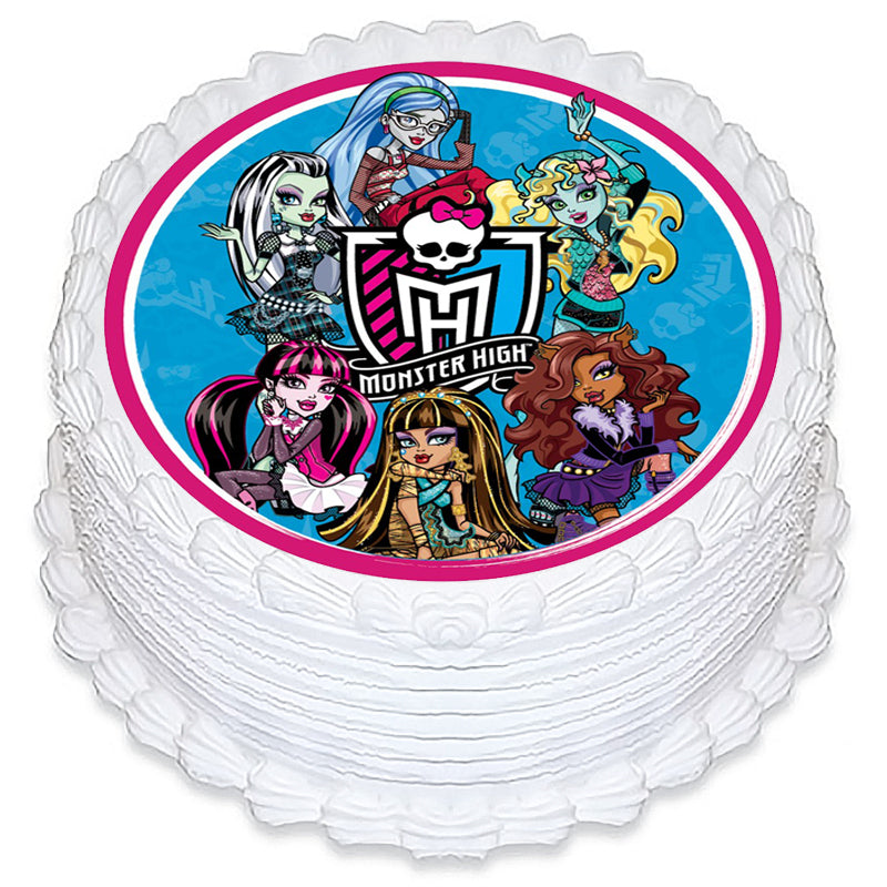 Monster High Round Edible Icing Image 19cm - Party Savers