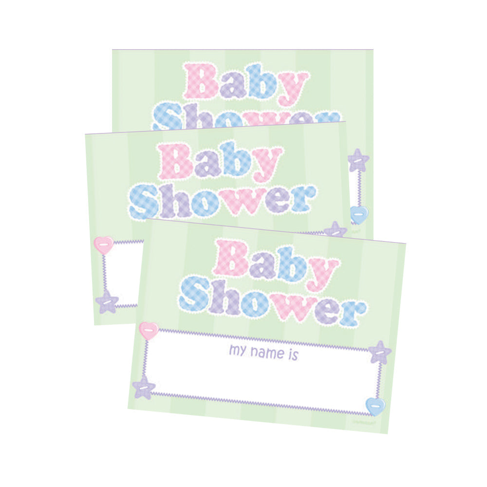 Baby Shower Name Tags 16pk - Party Savers