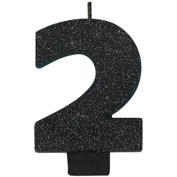 Number 5 Glitter Black - Party Savers