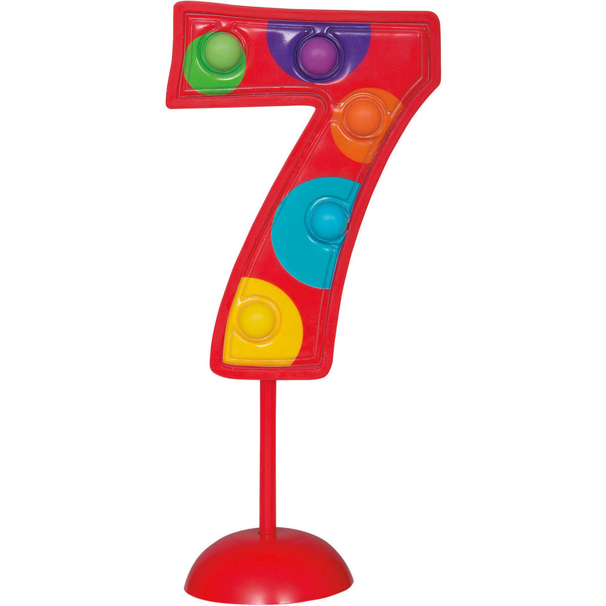 Number 1 Flashing Decoration 11.4cm