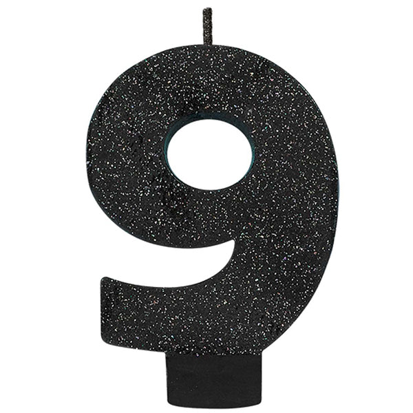 Number 2 Glitter Black - Party Savers