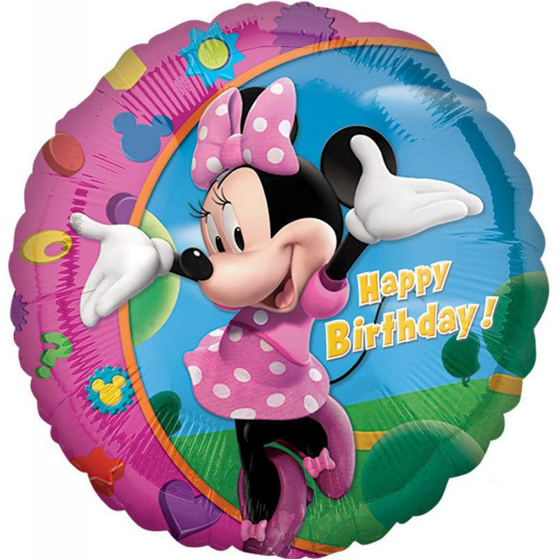 Minnie Mouse Happy Birthday Foil Balloon 45cm