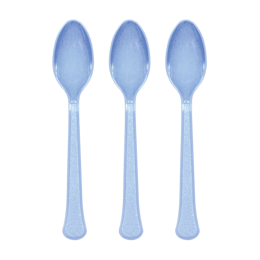 Silver Plastic Spoon 20pk - Party Savers