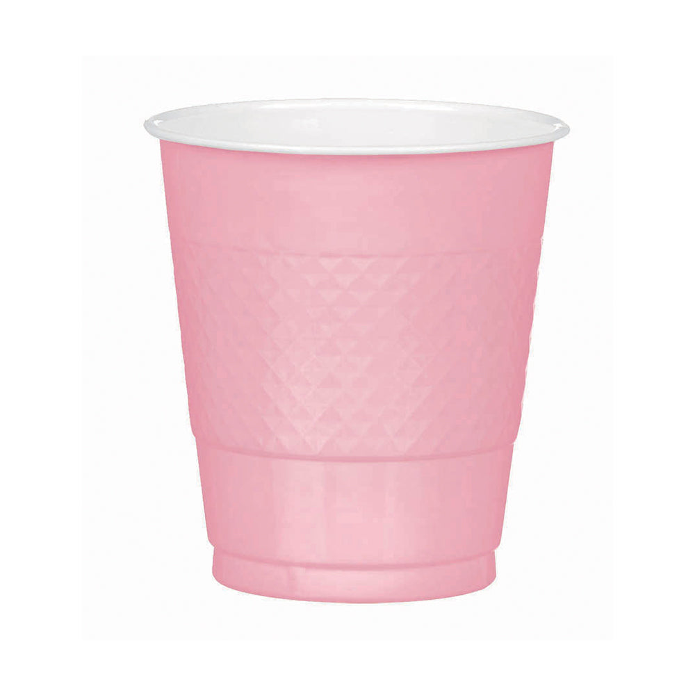 Bright Pink Plastic Cups 355ml 20pk
