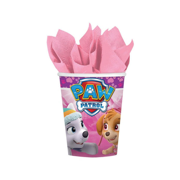 Paw Patrol Girl Paper Cups 266ml 8pk