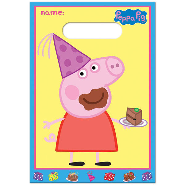 Peppa Pig Folded Loot Bags 8pk - Party Savers
