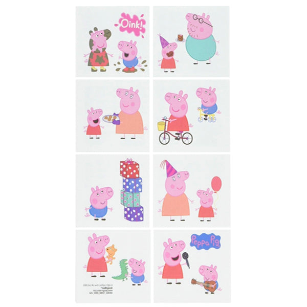 Peppa Pig Tattoos 8pk