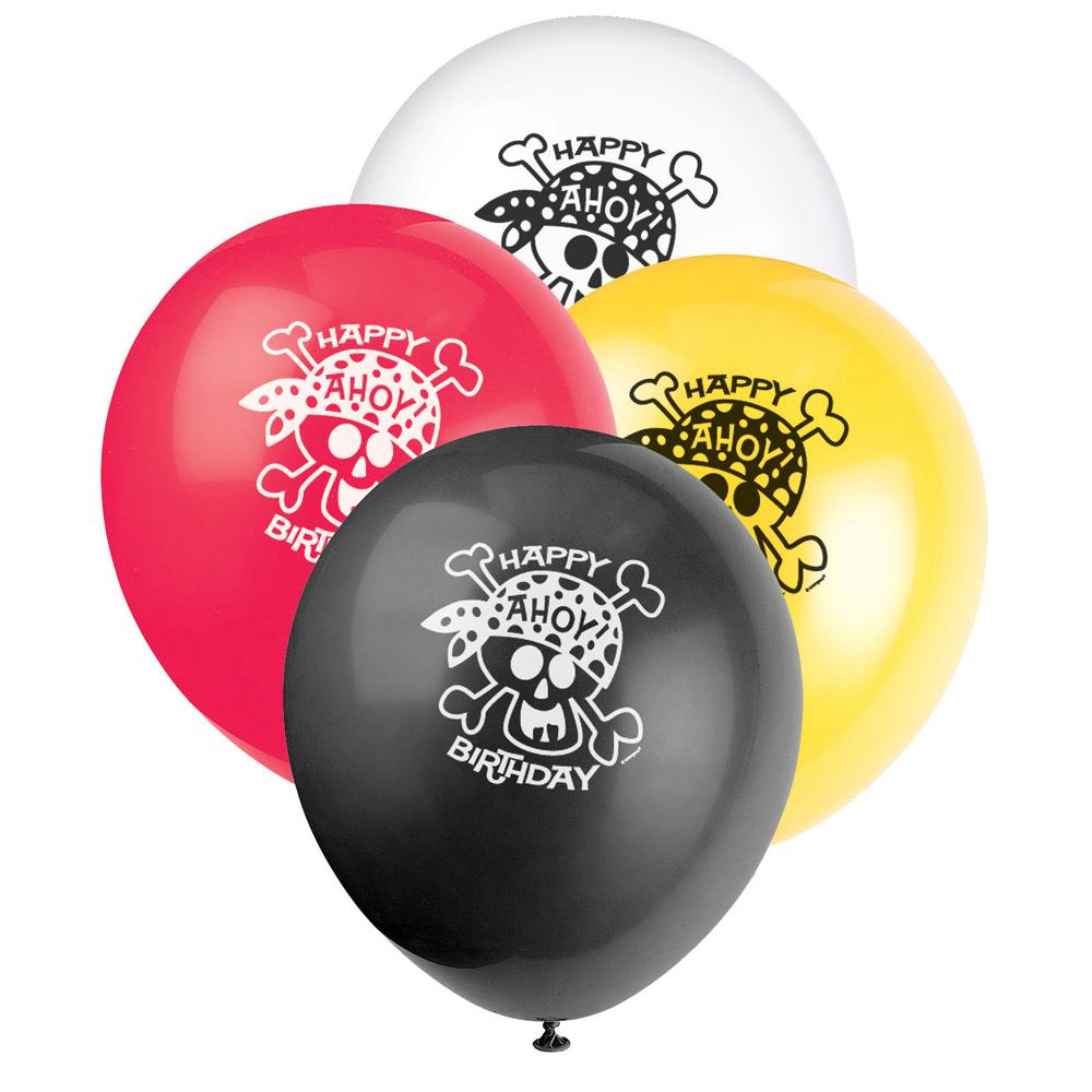 Pirate Fun Assorted Latex Balloons 30cm 8pk