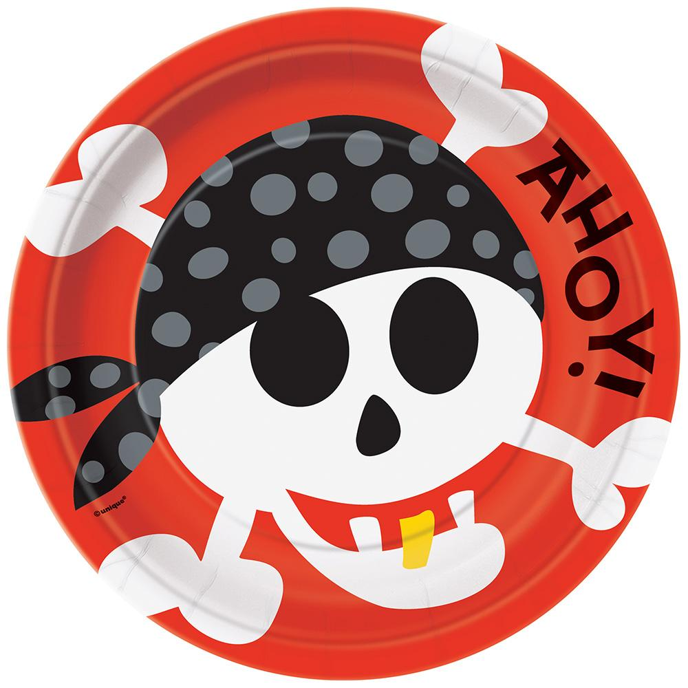 Pirate Fun Paper Plates 23cm 8pk
