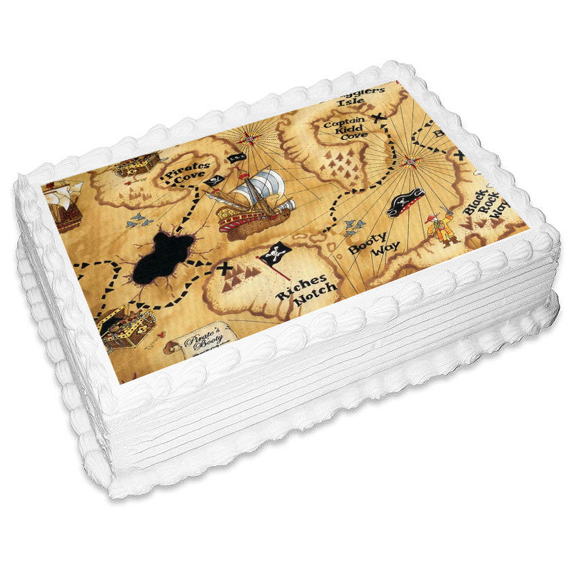 Pirates Rectangle Edible Icing Image 25cm x 19cm - Party Savers