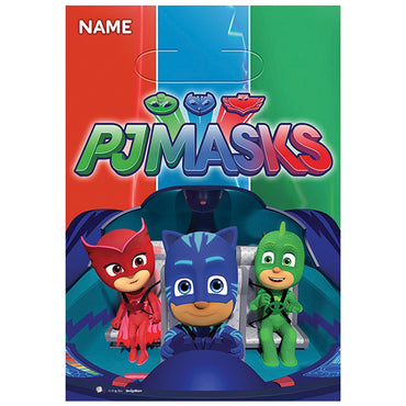 PJ Masks Folded Loot bags 8pk - Party Savers