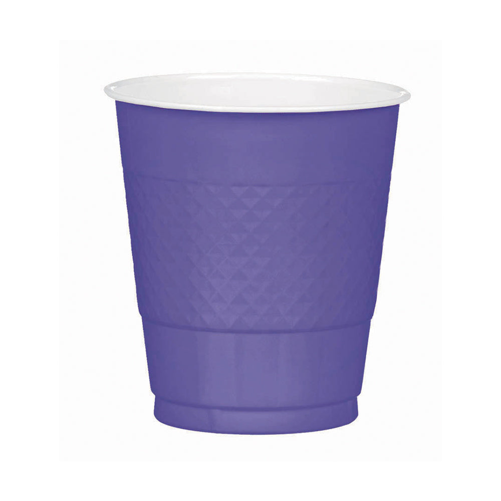 Lime Green Plastic Cups 355ml 20pk - Party Savers