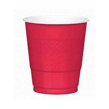 Red Plastic Cups 355ml 20pk