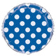 Royal Blue Dots Round Foil Balloon 45cm - Party Savers