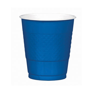 Royal Blue Plastic Cups 355ml 20pk
