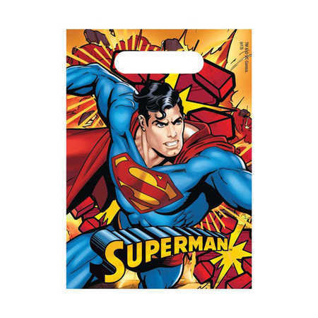 Superman Loot Bags 8pk - Party Savers