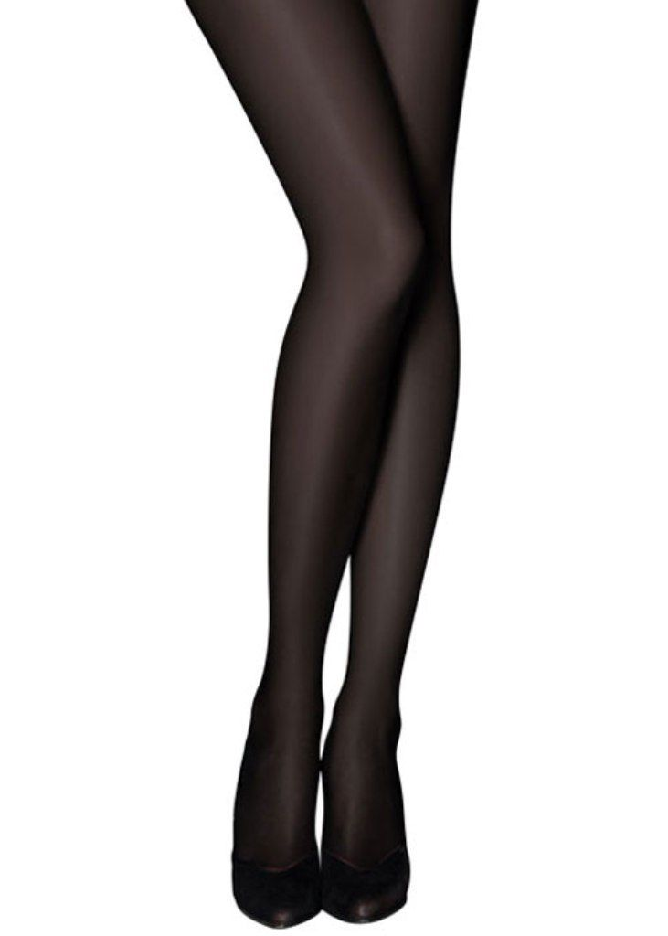 Black Full Length Color Tights