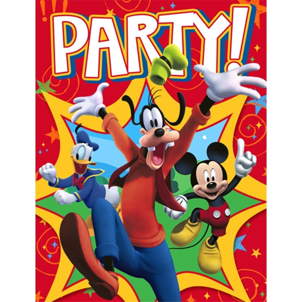 Mickey Mouse Invitations 8pk - Party Savers